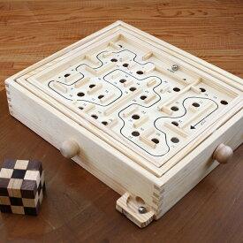 【NEW】迷路ゲーム(Maze Game)ラージ 脳トレ 木製ゲーム バランスゲーム 木製のゲームで頭脳勝負に挑戦 【ロックスモーション Maze Gameラージ】誰でも愉しめる 単純だけど難しい木製ゲーム プレゼント 右脳の訓練