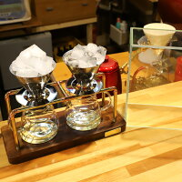 贅沢で優雅な時間|真鍮製コーヒースタンドセット