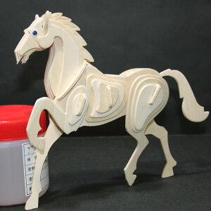 3D 組立て式木製パズルセット【動物7】木製パズル ギフトに最適 天然素材だから身体に優しい 木箱入り 可愛い動物が7種類!8歳から使用可能 説明書付きで簡単 じっくりと取り組む 最後は色