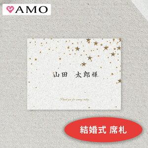 AMO 結婚式 席札 手作りキット 満天の星空ホワイト インクジェット対応 【メール便可】