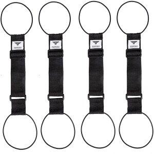 TABITORA(タビトラ) バッグとめるベルト 旅行用品/スーツケースベルト ブラック 5775cm(調節可)×幅5cm