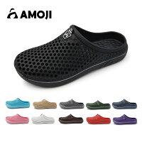 【AMOJI】 アモジ サンダル メンズ レディース スリッパ ルームシューズ クロッグサンダル サボ ビジネス オフィス 室内履き ファッションサンダル