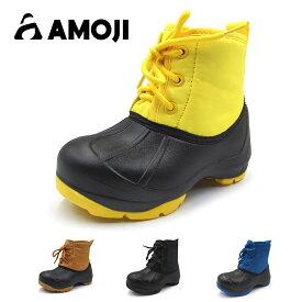 【AMOJI】 アモジ キッズ 長靴 ながぐつ ブーツ スノーブーツ 防寒 冬 雪 あったか 雪遊び ベビー ガールズ ジュニア 女の子 男の子 ボーイズ 子供 こども 子ども 幼児