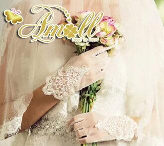 新到达婚礼手套短伴娘
