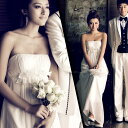 【翌日配送可】ウェディングドレス、結婚式、二次会ドレス、花嫁ドレス、パーティードレス★編み上げ式  ブライズメイド