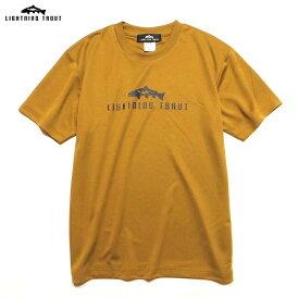"""LIGHTNING TROUT ライトニングトラウト トップス Tシャツ カットソー S/S Dry Tee """"OG LOGO"""" コヨーテ ベージュ/M-XL"""