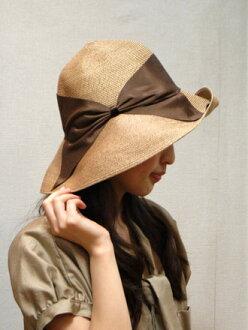 "Athena-new york New York Athena (any001) big Ribbon ""Risako's hat () (Bill delivery free) (unplug VERY shop) fashionable ladies Risco actress Cap Hat Ribbon shade collar wide summer size adjustment"