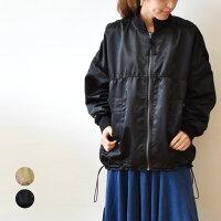 イリゼ(IRISE)シャーリング風衿リブジップブルゾン(ir032)