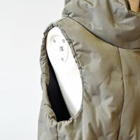 Priorityプライオリティ裾のドロストと星キルティングのダウンベスト(pt005)