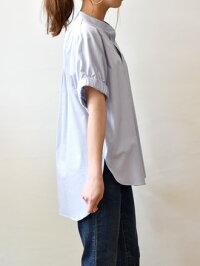 イリゼ(IRISE)スリットネック袖口ゴム涼しい半袖ブラウス(ir078)