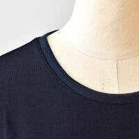 ププラ(PUPULA)衿ぐりシフォンの涼しい半袖カットソー(pp034)