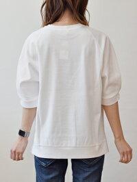 ププラ(PUPULA)ハニカム地の涼しい五分袖プルオーバー(pp035)
