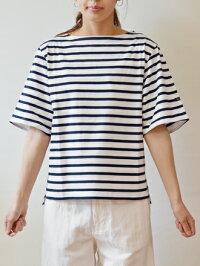 KALNAカルナルミノア×KALNAボーダー五分袖カットソー(kn010)