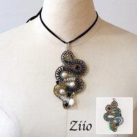 (即納・6月末予約)ziioネックレスジーオ天然石アクセサリー大振りペンダント型(zi012)