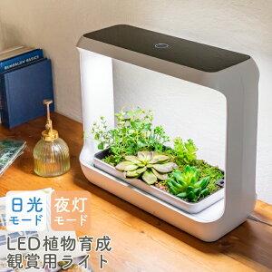 植物育成LEDライト 育成ライト 植物ライト 植物 LED 観葉植物 多肉植物 野菜 プランター 一体型 タイマー機能 サイクルタイマー 無段階調光 キッチンガーデン 室内栽培ランプ 日照不足 植物育