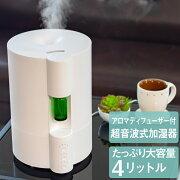 ネブライザー式アロマディフューザー付き超音波加湿器超音波式加湿器大容量4L花粉ウイルス予防