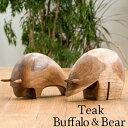【本日限定!全品P5倍】 木 オブジェ 木製 木彫り 木材 置物 インテリア オーナメント 雑貨 おしゃれ 可愛い 北欧 くま クマ ベア 動物…