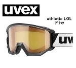 UVEXウベックスathleticLGLブラック/ブルーゴーグル/ダブルレンズ/スキー/スノーボード