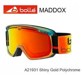【楽天SuperSale期間P10倍最大34倍】ボレー BOLLE MADDOX Shiny Gold Polychrome マドックス ゴーグル スキー スノボ A21931 ジャパンフィット
