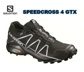 SALOMON SPEEDCROSS 4 GTX GORE-TEX トレイルランニングシューズ BLACK トレラン メンズ 男性用 トレーニング レース ロード 初級者から上級者向け L38318100