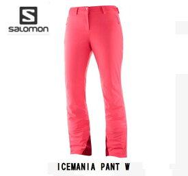 【楽天SuperSale期間P10倍最大34倍】サロモン 2020 SALOMON ICEMANIA PANT Women LC1211700 Coral ASIAN LENGTH スキーウェア パンツ レディス