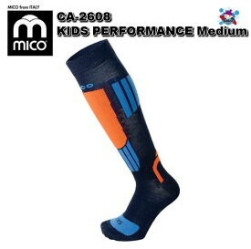 【MICO】ミコ スキーソックス CA-2608 KIDS PERFORMANCE Medium スキー スノボ 薄手 ソックス 靴下 子ども