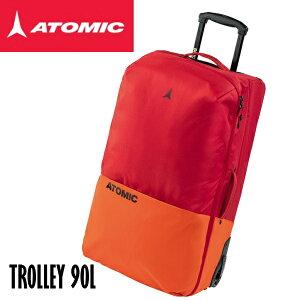 【お買物マラソン期間P5倍】アトミック 2021 ATOMIC TROLLEY 90L Red スキー キャスター付き 大型 トラベルバック