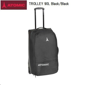 【お買物マラソン期間P5倍】アトミック 2021 ATOMIC TROLLEY 90L Black/Black 大型 トラベルバック スキー キャスター付き AL5047420