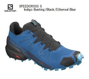 サロモン SALOMON SPEEDCROSS 5 IndigoBunting Black EtherealBlue L41116500 スピードクロス5 トレイルランニング シューズ メンズ