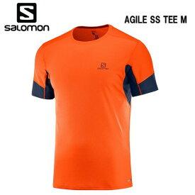 【お買物マラソン期間P5倍】SALOMON 18FW AGILE SS TEE M サロモン Tシャツ メンズ L40385300 ScarletIb トレイルランニング