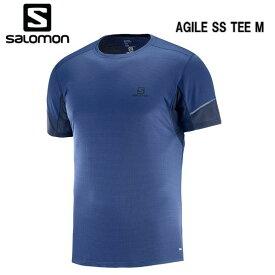 SALOMON 18FW AGILE SS TEE M サロモン Tシャツ メンズ L40385500 Medieval Blue トレイルランニング