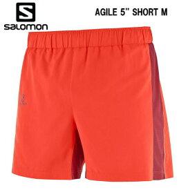 【お買物マラソン期間P5倍】SALOMON 18FW AGILE 5'' SHORT M メンズ L40386600 FIERY RED トレイルランニング ショーツ 短パン
