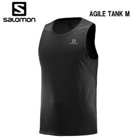 【お買物マラソン期間P5倍】SALOMON 19SS AGILE TANK M サロモン タンクトップ メンズ LC1035900 Black トレイルランニング