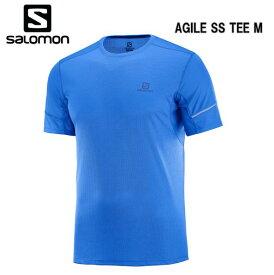 SALOMON 19SS AGILE SS TEE M サロモン Tシャツ メンズ LC1051600 Nautical Blue トレイルランニング