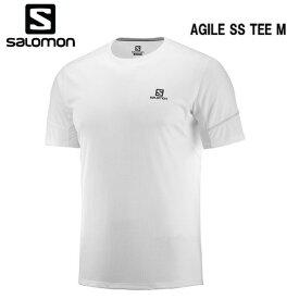 【お買物マラソン期間P5倍】SALOMON 19SS AGILE SS TEE M サロモン Tシャツ メンズ LC1051700 White トレイルランニング
