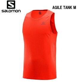 【お買物マラソン期間P5倍】SALOMON 19SS AGILE TANK M サロモン タンクトップ メンズ LC1065200 FIERY RED トレイルランニング