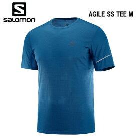 SALOMON 19SS AGILE SS TEE M サロモン Tシャツ メンズ LC1099900 Poseidon トレイルランニング