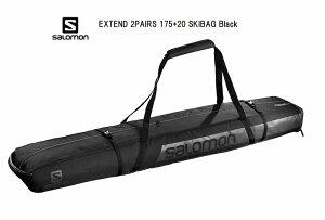 サロモン 2021 SALOMON EXTEND 2PAIRS 175+20 SKIBAG Black LC1206100 スキーバック スキーケース
