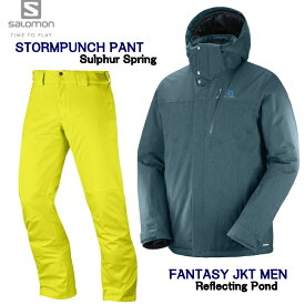 2019 SALOMON FANTASY JKT Mens L40359900 Reflecting Pond STORMPUNCH PANT Mens L40443800 Sulphur Spring サロモン ファンタジー ジャケット ストームパンチ パンツ スキーウェア メンズ