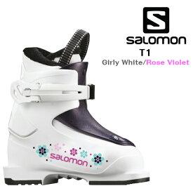 2019 2020 SALOMON T1 White Rose サロモン スキーブーツ ジュニア