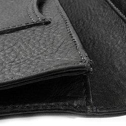 クロムハーツ財布(ChromeHearts)ロング・シングルフォールド・チップス・3ビル・ウィズ・グロメット・ブラック・ヘビーレザー(メンズ)(クロム・ハーツ)(長財布)