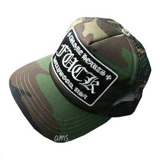 8276ee7973b ams-la  ( CHROME HEARTS ) chrome hearts Hat   Cap Trucker Cap ファック タンクカモフラ