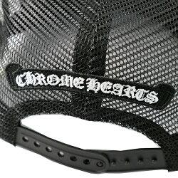 クロムハーツ(ChromeHearts)ハット/キャップ・トラッカーキャップ・FBRC・フロント・WXDブラック・ダガー・クロスボタン