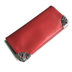 クロムハーツ財布(ChromeHearts)ロング・シングルフォールド・チップス・3ビル・レッド・ライトレザー(クロム・ハーツ)(長財布)