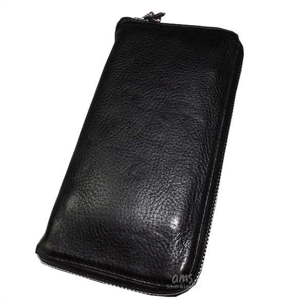 クロムハーツ 財布(Chrome Hearts)REC・F・ZIP#2・プレーン・ブラック・ヘビーレザー