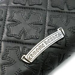 クロムハーツ財布(ChromeHearts)REC・F・ZIP#2・キルティング・CHプラスクロス・ブラック・ライトレザー