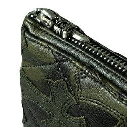 クロムハーツ財布(ChromeHearts)RECFZIP#2キルティングセメタリークロス・タンクカモ・ライトレザー(送料無料)(メンズ)(クロム・ハーツ)(長財布)