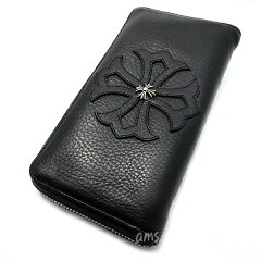 クロムハーツ財布(ChromeHearts)RECFZIP#2トリムCHプラスパッチw/ウィンドウズ・ブラック・ヘビーレザー