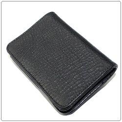 クロムハーツ財布(ChromeHearts)カードケースV1・3ポケットワイド・スクロールブラック・ヘビーレザーウォレット(メンズ)(クロム・ハーツ)(長財布)