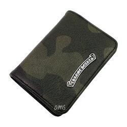 クロムハーツ・財布(Chrome・Hearts)カードケースV1・3ポケットCHスクロール・タンク・ヘビーレザー()(メンズ)(クロム・ハーツ)(長財布)